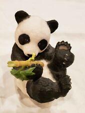 Franklin Mint Porcelain Hi There! by Eva Dalberg Panda w/Bamboo 1984 Figurine