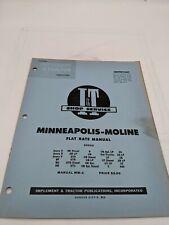 I Ampt Tractor Shop Service Flat Rate Manual Minneapolis Moline Avery Mm 4 R V Gta