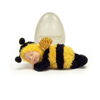 Anne Geddes 579310 Baby Bee Doll in Gold Glitter Egg 9 inch Soft Doll BNIB