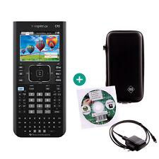 TI Nspire CX CAS Taschenrechner Grafikrechner + Schutztasche Ladekabel Lern-CD