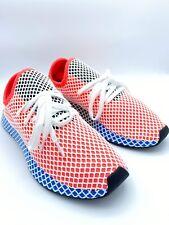 Adidas Deerupt Runner Men's Red Blue Size 11 Mesh Covered Sneaker