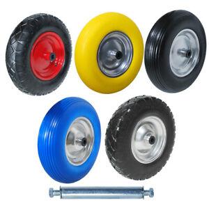 Schubkarrenrad Reifen Vollgummi 4.80/4.00-8 Ersatzrad Luftrad pannensicher Achse