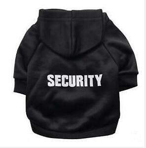 Security Cat Clothes Pet Cat Dog Coat Jacket Hoodies For Cats Warm Outfit Hoodie