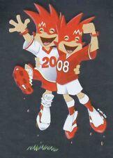 Panini Sticker Fußball Euro 2008 Nr. 5 Official Mascots / Maskottchen Glitzer