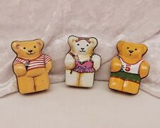 Set of 3 Small Novelty Vintage Tins/Trinket/Pill Boxes-Teddy Bears by Hunky Dory