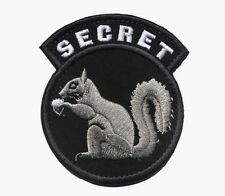 TOP SECRET SQUIRREL BLACK OPS ARMY CIA DEVGRU DELTA SF Embroider Hook/Lp PATCH