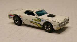Vintage Hot Wheels Thrill Drivers 1974 Hong Kong White Ford Torino HTF
