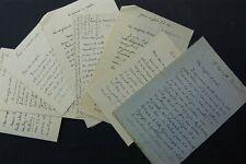 Ecrivain André FOULON de VAUX, lot de 8 autographes