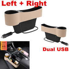 2pcs Car Accessories Seat Storage Box Cup Drink Holder Organizer Gap Pocket