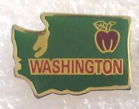 State of Washington Map Travel Souvenir Collector Pin - Apple