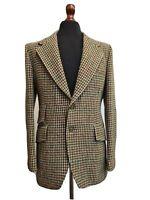 Men's Vintage 1970's Harris Tweed Jacket Blazer By Jackson The Tailor 40L