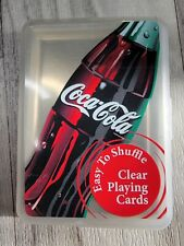 Coca-Cola Clear Playing Cards w/Plastic Case Sealed Unopened US Playing Card *J