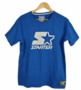 Vintage Starter Men's T Shirt Size M Blue Cotton/Polyester