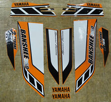 Yamaha banshee stickers graphics decals 10pc Special Edition Bk/Orange/White ATV