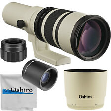 Oshiro 500/1000mm f/6.3 Telephoto Lens for Canon EOS R5 R6 RP Mirrorless Cameras