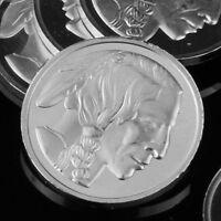 """American Indian"" Design. Lot of 10, 1 gram .999 Fine silver bullion Coin, NEW!"