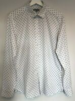 Ted Baker Mens Long Sleeve Shirt Size 3 Medium White