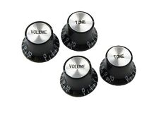 4 PCS Speed Knobs 2T2V Black LP SG Style Bell Top Hat Shape Hot Sales#VT22