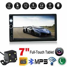 """2 DIN 7""""HD MP5 FM Bluetooth Car Stereo Radio Touch Screen With Rear Camera"""