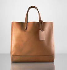 $1,200 Ralph Lauren Purple Label Brown Leather Saddle Calfskin Easy Tote Bag