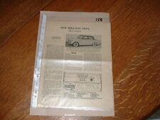 HILLMAN MINX 1956-57 MOTOR TRADER SERVICE INFORMATION SHEETS. FREE U.K. POST