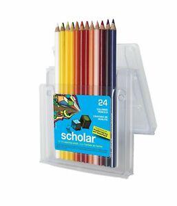 Prismacolor Colors Scholar Colored Pencil Set, Assorted Colors, 24-Count  New!!!
