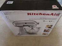 KitchenAid KSM105GBC 5-Qt Tilt Head Stand Mixer Glass Bowl -  Metallic Chrome