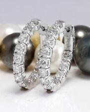 3.36 Carat Natural Diamonds in 14K Solid White Gold Women Earrings