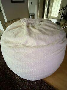 Lovesac Supersac Eskimo Swirl Fur