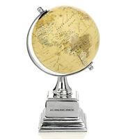 Mappamondo Small VINTAGE Globe Spalding & Bros Alluminium oggetto scrivania G...