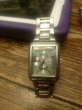 Guess Steel Chronograph Square Bezel Quartz Watch