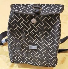 TOMMY HIL girls LOGO black backpack handbag CLEARANCE