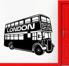 Wall Sticker Vinyl Decal Double-Decker Bus Symbol London United Kingdom (ig1419)