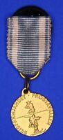 Sweden Swedish silver medal Ski running MINATURE medal 15mm *[18490]