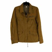 J Crew Womens Brown Full Zip Long Sleeve Regular Pockets Jacket Medium