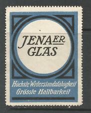 JENAER GLAS advertising stamp/label