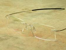 Custom Prescription Rimless Glasses Silvery Titanium Frame Transition Lens Grey