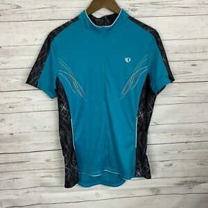 Pearl Izumi Select Womens 1/2 Zip Cycling Shirt Jersey Size XXL Teal Black