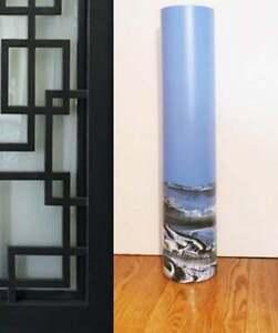 Black Blue Floor Vase 24 inch/Hand Painted Black Blue White Glass Floor Vase