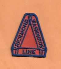 "RICHMOND WASHINGTON LINE  RAILROAD PATCH  2""  ***"