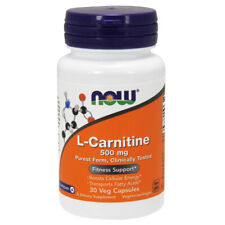 L-CARNITINA, 500mg x 30 Capsule Veg - Now Foods