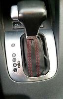 Volkswagen TOURAN DSG CUFFIA CAMBIO adatta  VERA PELLE NERA CUCITURE ROSSE