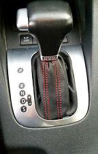 Volkswagen TOURAN DSG CAMBIO DE ARRANQUE adecuado CUERO NEGRO COSTURAS ROJAS