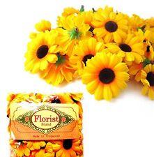 100 Silk Sunflower Heads Gerber Daisies s Floral Supplies Wholesale Lot