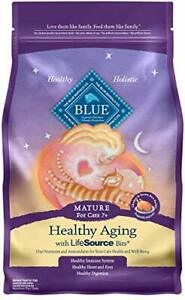 Blue Buffalo Healthy Aging Natural Mature Dry Cat Food Chicken & Brown Rice 3-lb