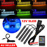 9 LED Car Interior RGB LED Strip Lights Atmosphere Decorative Neon Music Lamp AU