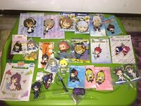 Various Series Japan Anime Rubber Strap Figure Lot of 23 Hayate Idolmaster More