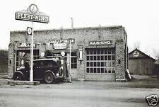 CHAS GAS STATION FLEET-WING 1940's LUBE WASH PUMPS SERVICE