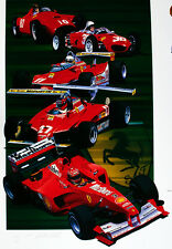 50 Años De Ferrari Racing volver a Gloria Fangio Hill Print Por Gavin Macleod