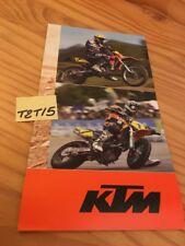 KTM 2004 poster gamme tout terrain enduro cross ..etc catalogue moto prospectus